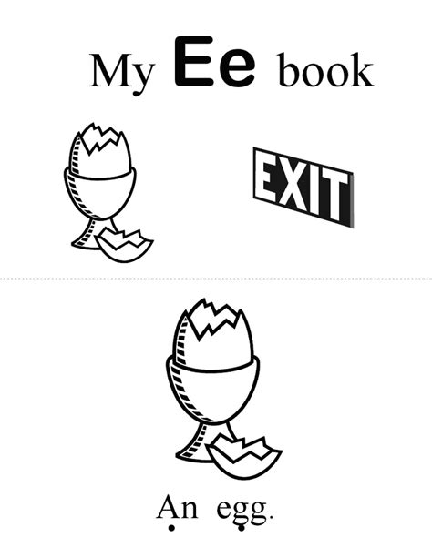 Letter Books Pdf 17 best images about letter e on eggs