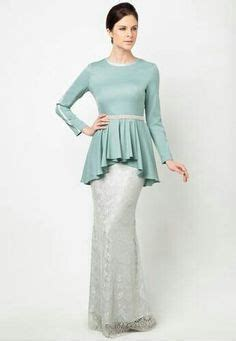 Baju Gamis Minimalis Trendy Cantik baju kurung moden lace minimalis baju raya 2016 fesyen