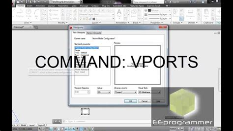 viewport in layout autocad autocad 2014 tutorial viewports vports command youtube