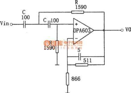 high pass filter operational lifier the circuit diagram of 1 mhz high pass filter consists of opa603 temperature control
