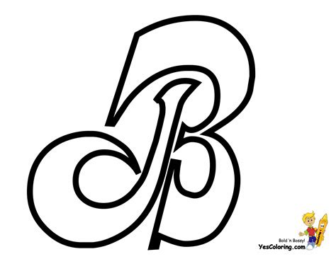 Letter B Coloring Pages For Printable Letter B Coloring B Coloring Page