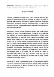 esl worksheets for adults how to write a summary