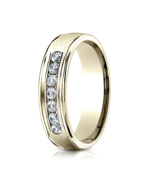 7 Beautiful Eternity Rings by 14k Yellow Gold 6mm Comfort Fit Channel Set 7