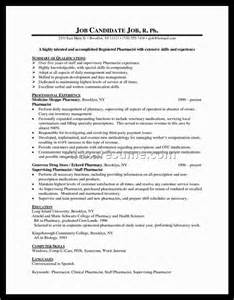 Pharmacist Resume Sle Free Canada Pharmacist Resume Sales Pharmacist Lewesmr
