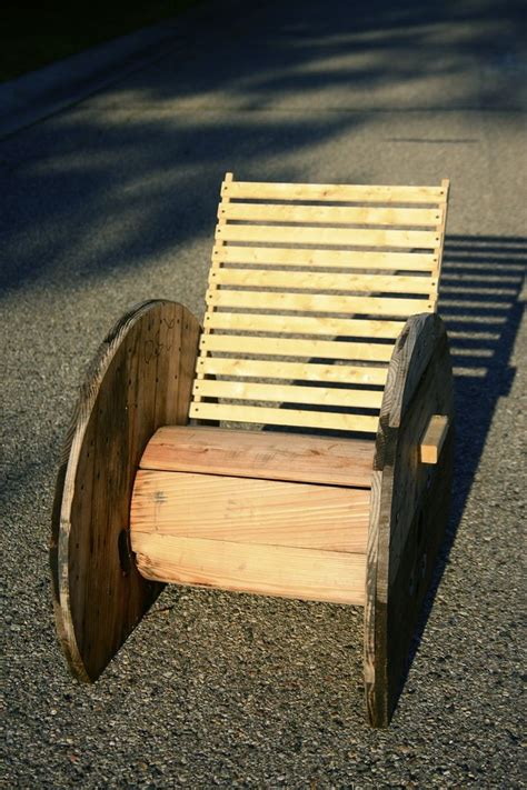 Wooden Spool Chair by Repurposed Wire Spool Ideas Spool Chair Wire Spools