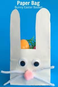 easter bag template paper bag bunny easter basket craft for kid