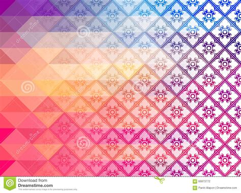 create mosaic pattern illustrator thai art background pattern vectorretro pattern of