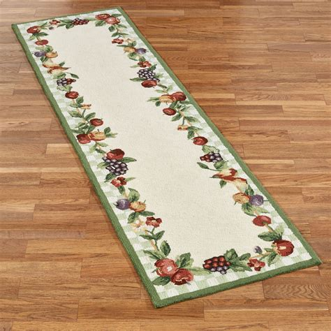 kitchen rugs fruit design sonoma hand hooked fruit rug runners