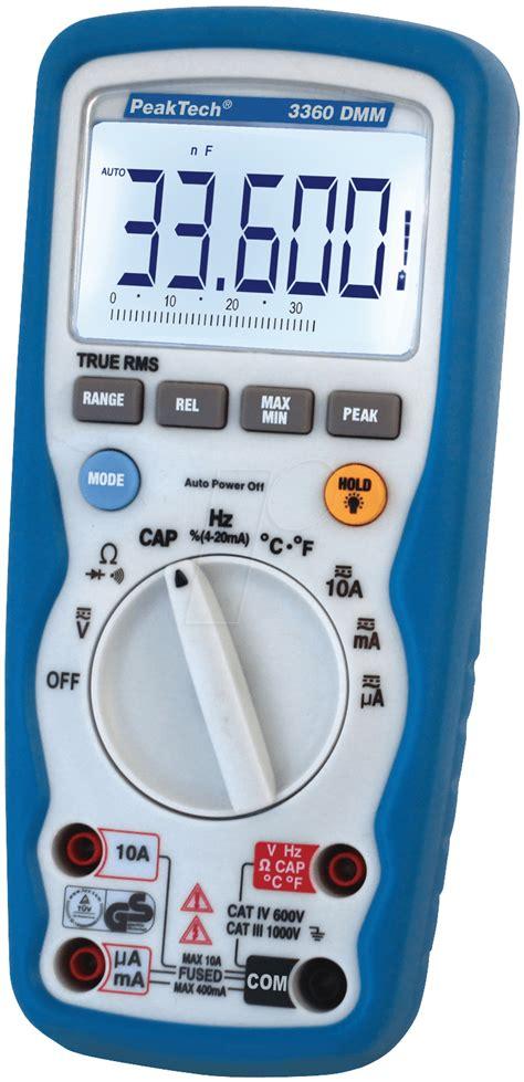 Multimeter Elektronik Peaktech 3360 Peaktech 3360 Digital Multimeter At Reichelt Elektronik