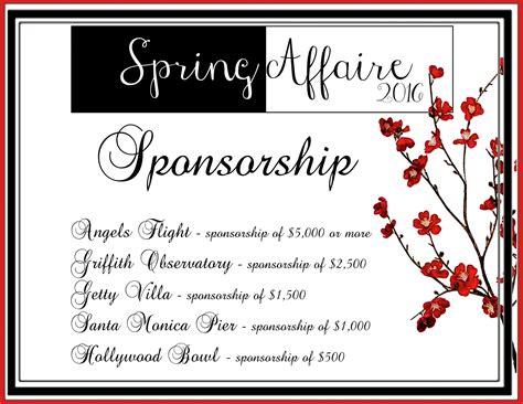 spring affaire spring affaire 2016 sponsors