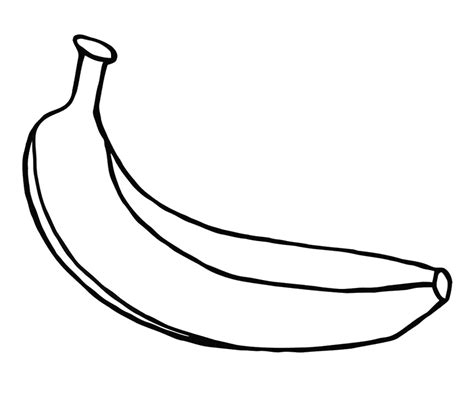 banana color free coloring pages of outline of a banana