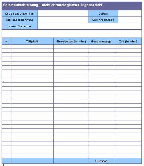Tagesbericht Praktikum Vorlage Zum Ausdrucken Organisationshandbuch Praxisbeispiele Vordruck Abbildung Selbstaufschreibung Nicht