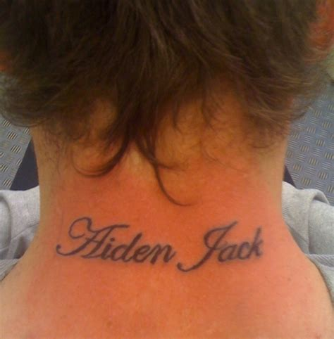 tattoo fonts neck tattoos lettering neck