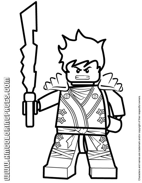 ninjago kai kx with elemental blade coloring page h m