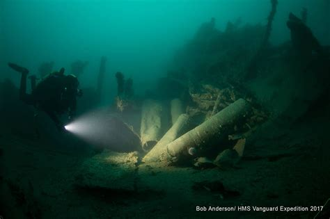 divers shed light on wreck of royal navy s worst wartime