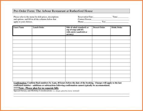 photography order form template excel photography order form template free and purchase order
