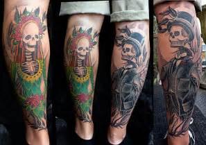 calf skeleton tattoo by plurabella