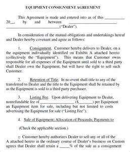 consignment agreement template consignment agreement 10 documents in pdf word