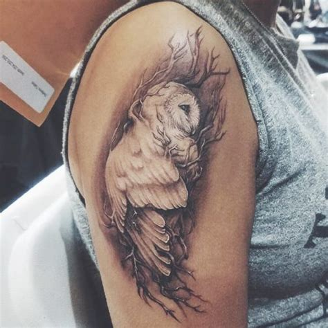 owl shoulder tattoo kirstin maldonado owl arm style