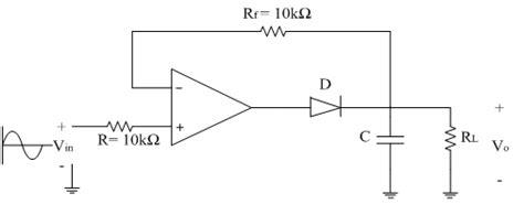 diode peak detector peak detector electronics tutorial