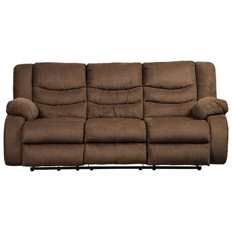 value city reclining sofa signature design by ashley tulen contemporary reclining