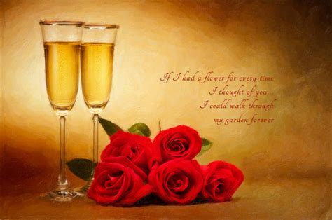 Roses Duvet Cover Champagne Glasses And Roses Photograph By Ulrich Schade