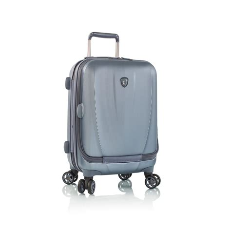 vantage 21 inch hard sided smart luggage carryon spinner