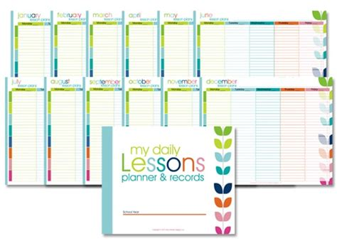 colorful printable weekly planner homeschool lesson planner colorful confessions of a