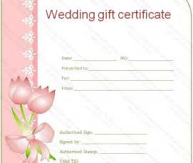 Wedding Gift Certificate Template by Wedding Gift Certificate Templates Gift Certificate