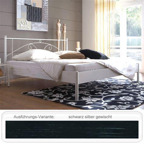 futonbett silber metallbett barcola schwarz silber gewischt gr 246 223 e nach wahl