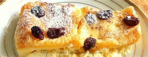 Roti Toast Story resep bread pudding puding roti dengan saus vanila