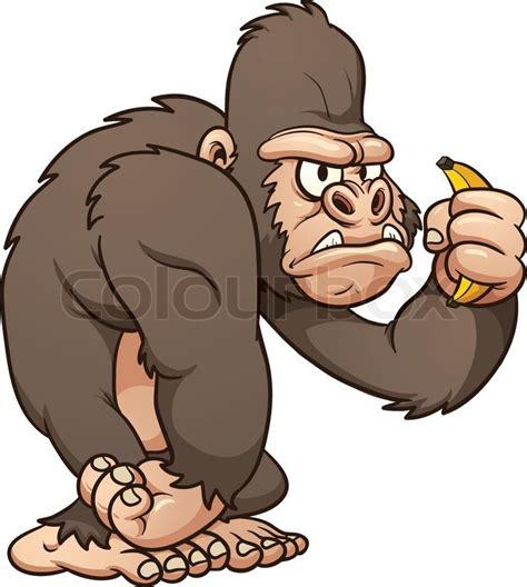 gorilla clipart gorilla vector clip illustration with simple