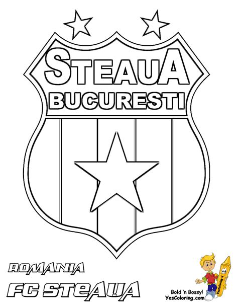 Yes Coloring Page fc steaua bucuresti soccer coloring at yes coloring