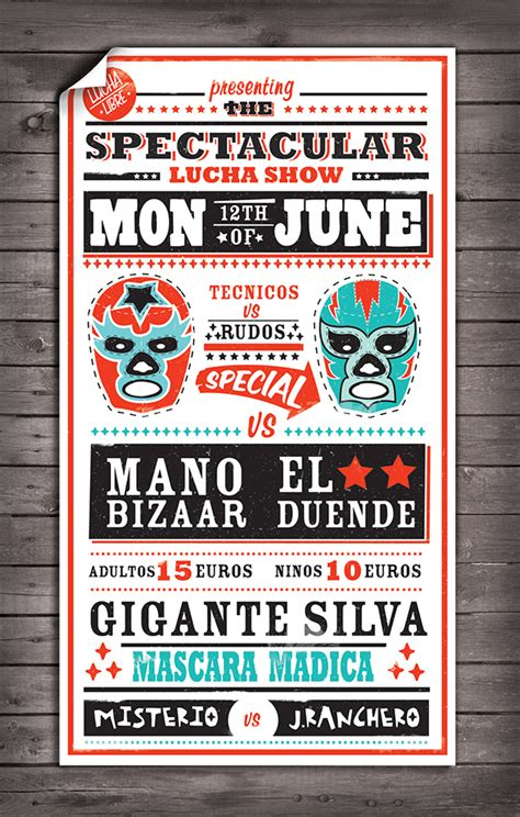 Lucha Libre Poster Template Lucha Libre Poster On Behance