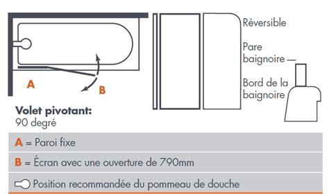 Baignoire Largeur 90 by Pare Baignoire O2 90 Cm