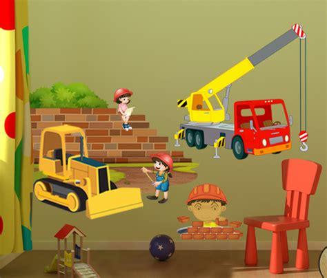 stickers pour chambre enfant stickers bulldozer pour dco chambre enfant vente sticker