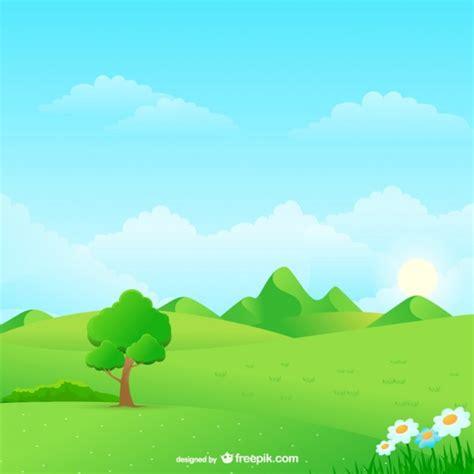 wallpaper cartoon landscape natural landscape cartoon vector free download