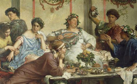 banchetti antica roma banchetti nell antica roma slaves for collecting vomiting