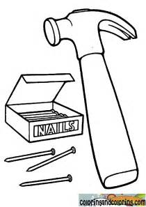 Hammer Drawing Coloring sketch template