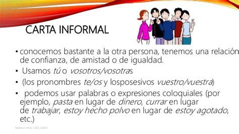 carta formal y una informal la carta formal y la carta informal material adaptado