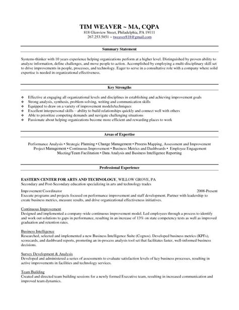 skill set resume project scope template