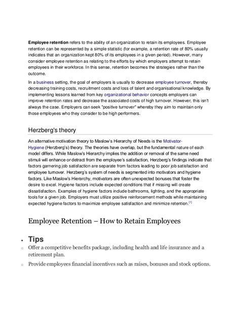 employee retention agreement template employee retention