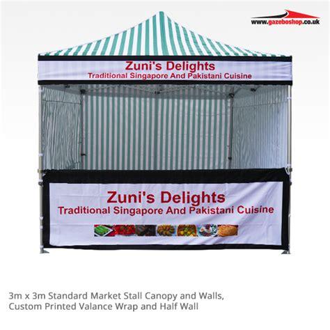 market stall gazebo printed gazebo for market stalls gazeboshop
