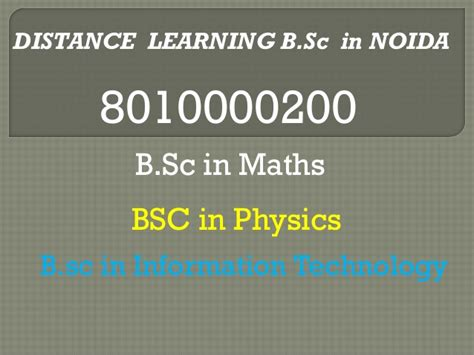 Distance Mba In India 2015 by 8010000200 Distance Learning Bsc Course In India
