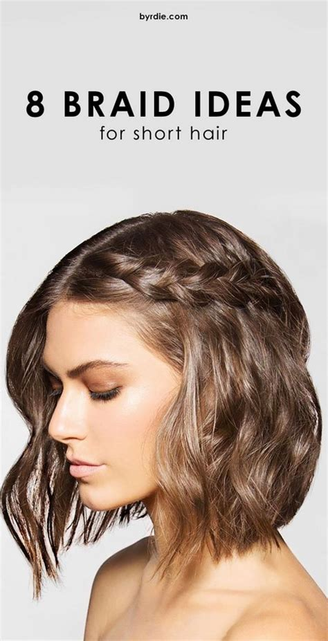hairstyles braids for short hair easy braided hairstyles for short hair