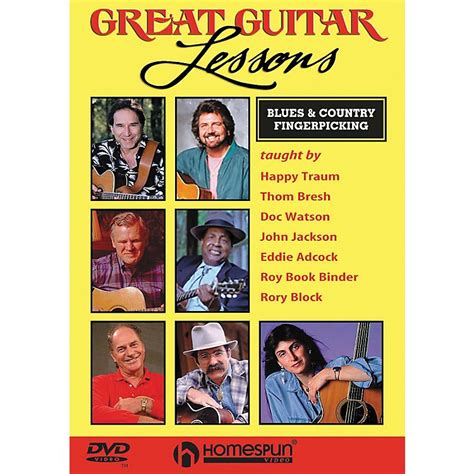 dvd tutorial fingerstyle homespun great guitar lessons blues country
