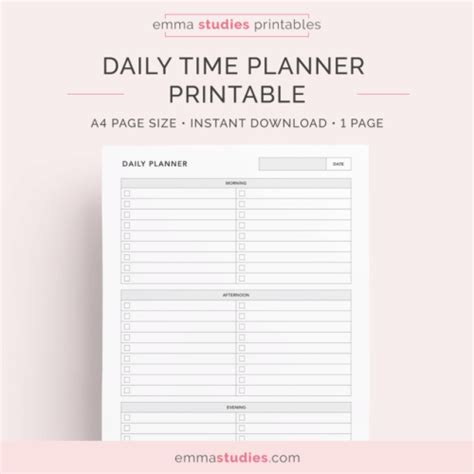 daily planner template tumblr student tumblr