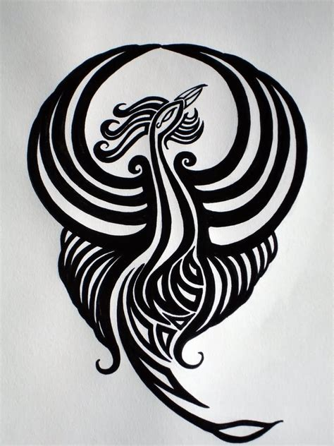 black and white phoenix tattoo designs 40 black and white designs