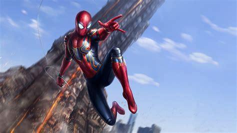 iron spider avengers infinity war wallpaper hd movies