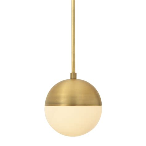 Brass Pendant Light Lights Ceiling Lights Pendant Lighting Powell Pendant With Hooded White Globe Aged Brass